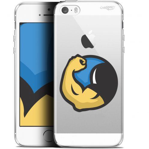 "Coque Gel Apple iPhone 5/5s/SE (4"") Extra Fine Motif -  Monsieur Muscle"