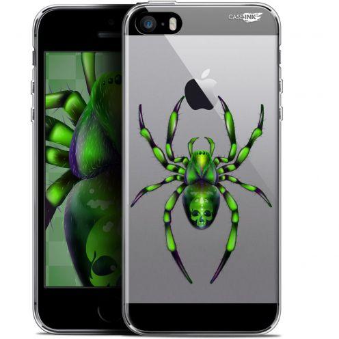 """Coque Gel Apple iPhone 5/5s/SE (4"""") Extra Fine Motif -  Arraignée Verte"""