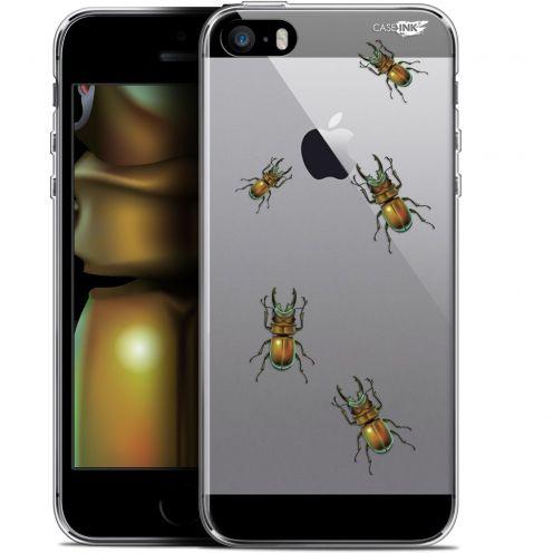 "Coque Gel Apple iPhone 5/5s/SE (4"") Extra Fine Motif -  Petits Scarabés"