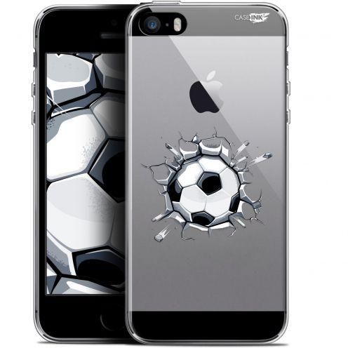 "Coque Gel Apple iPhone 5/5s/SE (4"") Extra Fine Motif - Le Balon de Foot"