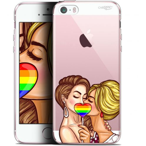 "Coque Gel Apple iPhone 5/5s/SE (4"") Extra Fine Motif -  2 Girls 1 Candy"
