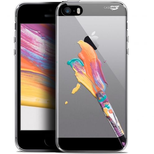 "Coque Gel Apple iPhone 5/5s/SE (4"") Extra Fine Motif -  Pinceau de Peinture"