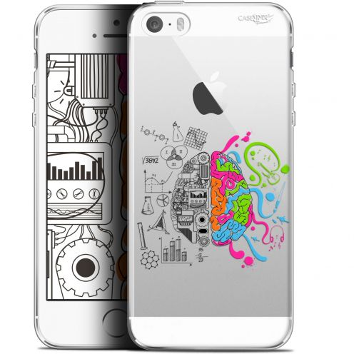 "Coque Gel Apple iPhone 5/5s/SE (4"") Extra Fine Motif - Le Cerveau"