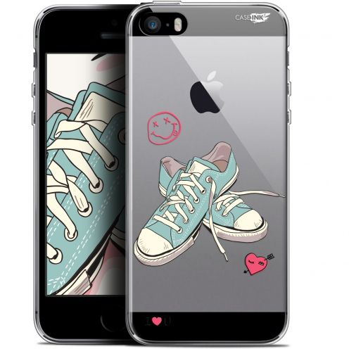 "Coque Gel Apple iPhone 5/5s/SE (4"") Extra Fine Motif -  Mes Sneakers d'Amour"