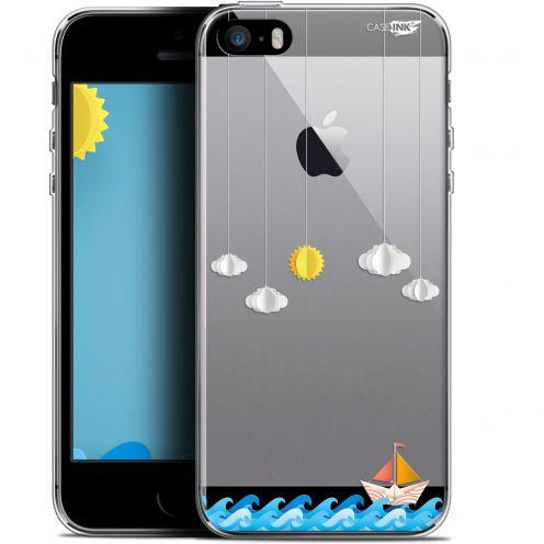 "Coque Gel Apple iPhone 5/5s/SE (4"") Extra Fine Motif -  Petit Bateau en Mer"