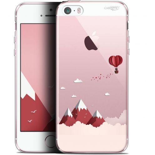 """Coque Gel Apple iPhone 5/5s/SE (4"""") Extra Fine Motif -  Montagne En Montgolfière"""