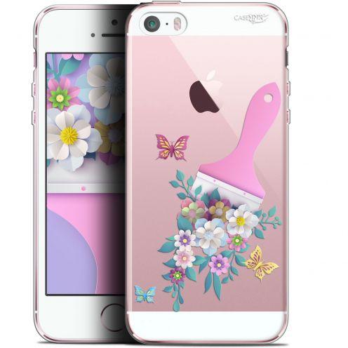 """Coque Gel Apple iPhone 5/5s/SE (4"""") Extra Fine Motif - Pinceau à Fleurs"""