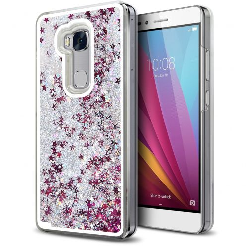 Coque Crystal Glitter Liquid Diamonds Argent Huawei Honor 5X