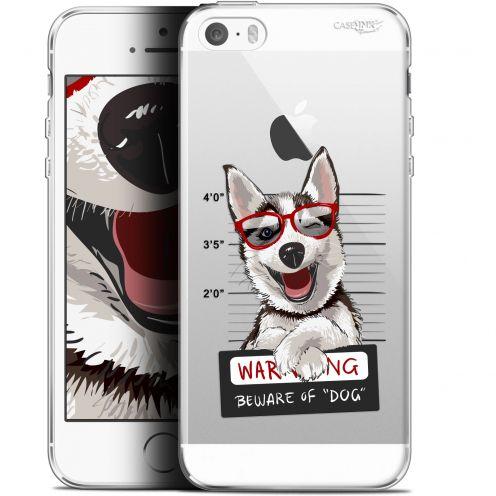 "Coque Gel Apple iPhone 5/5s/SE (4"") Extra Fine Motif -  Beware The Husky Dog"