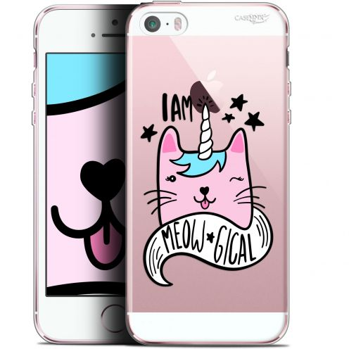 "Coque Gel Apple iPhone 5/5s/SE (4"") Extra Fine Motif -  I Am MEOUgical"