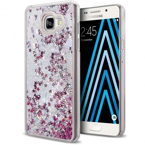Coque Crystal Glitter Liquid Diamonds Argent Samsung Galaxy A3 2016 (A310)