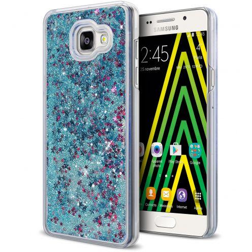 Coque Crystal Glitter Liquid Diamonds Bleu Samsung Galaxy A5 2016 (A510)