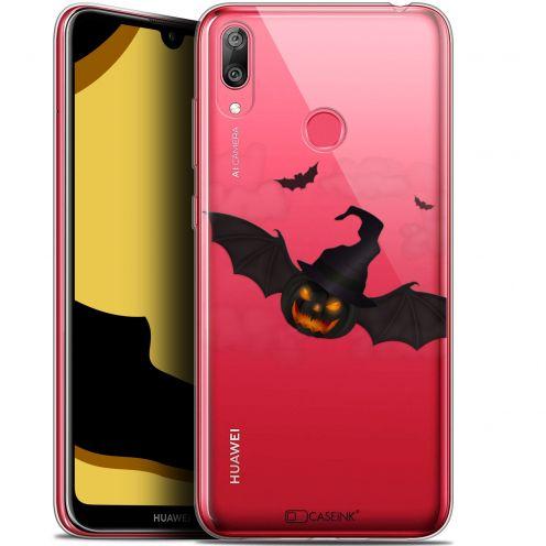 "Coque Gel Huawei Y7 / Prime / Pro 2019 (6.26"") Extra Fine Halloween - Chauve Citrouille"