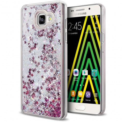 Coque Crystal Glitter Liquid Diamonds Argent Samsung Galaxy A5 2016 (A510)