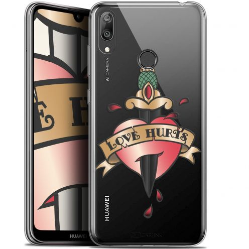 "Coque Gel Huawei Y7 / Prime / Pro 2019 (6.26"") Extra Fine Tatoo Lover - Love Hurts"