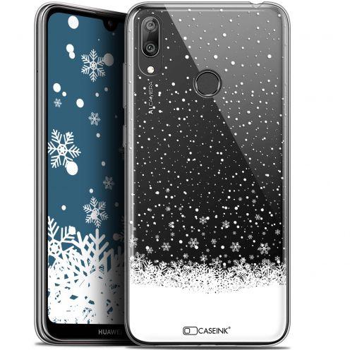 "Coque Gel Huawei Y7 / Prime / Pro 2019 (6.26"") Extra Fine Noël 2017 - Flocons de Neige"