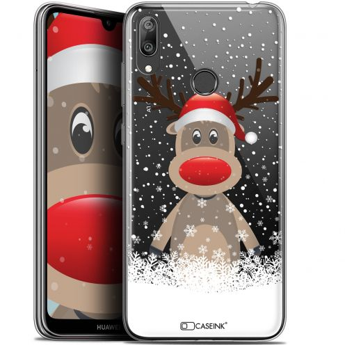 "Coque Gel Huawei Y7 / Prime / Pro 2019 (6.26"") Extra Fine Noël 2017 - Cerf au Bonnet"