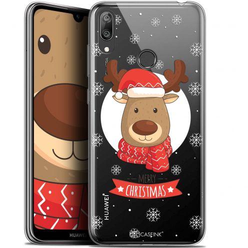 "Coque Gel Huawei Y7 / Prime / Pro 2019 (6.26"") Extra Fine Noël 2017 - Cerf à Echarpe"