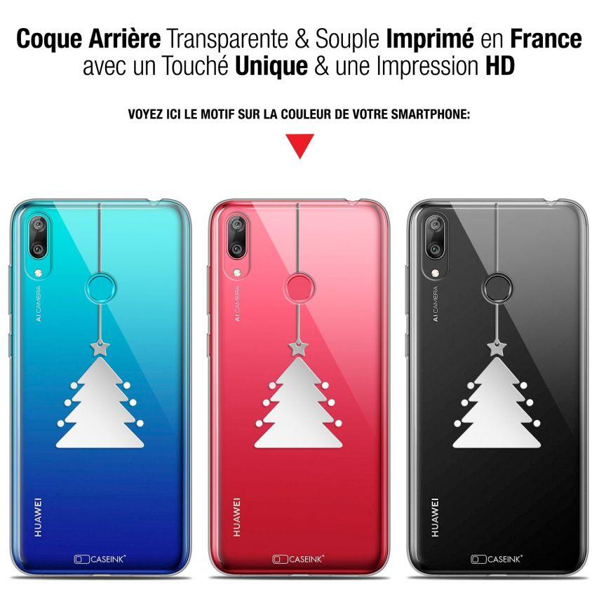 "Coque Gel Huawei Y7 / Prime / Pro 2019 (6.26"") Extra Fine Noël 2017 - Petit Arbre"