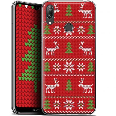 """Coque Gel Huawei Y7 / Prime / Pro 2019 (6.26"""") Extra Fine Noël 2017 - Couture Rouge"""