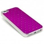 Visuel supplémentaire de Coque iPhone 5 Luxury Satin & Diamant Violette
