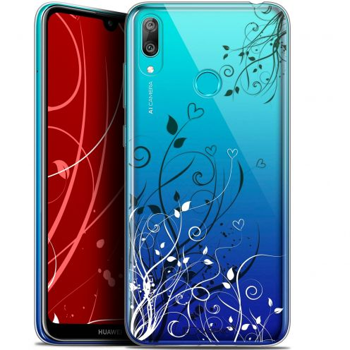 """Coque Gel Huawei Y7 / Prime / Pro 2019 (6.26"""") Extra Fine Love - Hearts Flowers"""