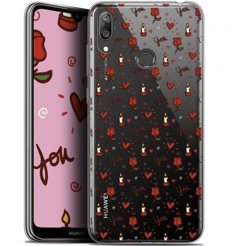 "Coque Gel Huawei Y7 / Prime / Pro 2019 (6.26"") Extra Fine Love - Bougies et Roses"