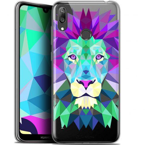 "Coque Gel Huawei Y7 / Prime / Pro 2019 (6.26"") Extra Fine Polygon Animals - Lion"