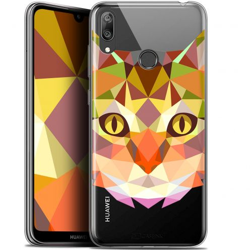 """Coque Gel Huawei Y7 / Prime / Pro 2019 (6.26"""") Extra Fine Polygon Animals - Chat"""