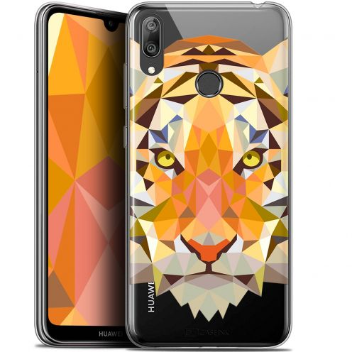 "Coque Gel Huawei Y7 / Prime / Pro 2019 (6.26"") Extra Fine Polygon Animals - Tigre"