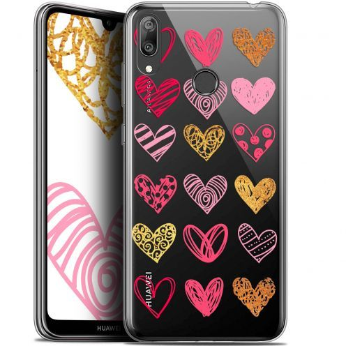 "Coque Gel Huawei Y7 / Prime / Pro 2019 (6.26"") Extra Fine Sweetie - Doodling Hearts"