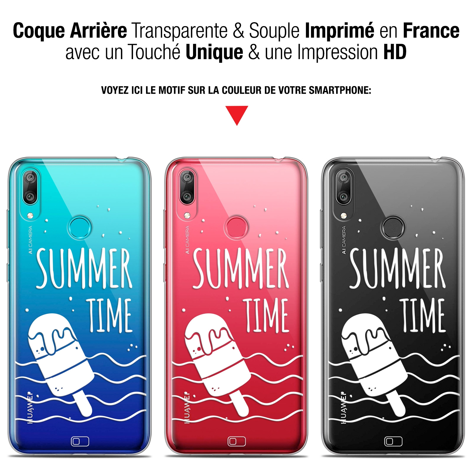 "Promotions Pro Summer 2019: Coque Gel Huawei Y7 / Prime / Pro 2019 (6.26"") Extra Fine"