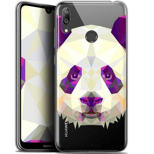 """Coque Gel Huawei Y7 / Prime / Pro 2019 (6.26"""") Extra Fine Polygon Animals - Panda"""