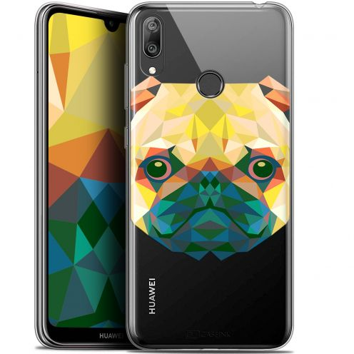 "Coque Gel Huawei Y7 / Prime / Pro 2019 (6.26"") Extra Fine Polygon Animals - Chien"