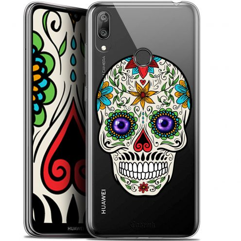 "Coque Gel Huawei Y7 / Prime / Pro 2019 (6.26"") Extra Fine Skull - Maria's Flower"