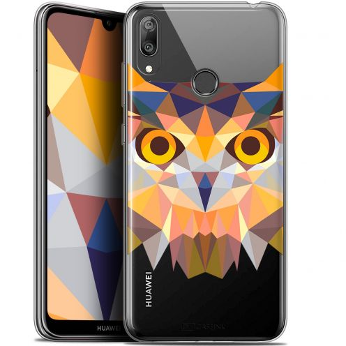 "Coque Gel Huawei Y7 / Prime / Pro 2019 (6.26"") Extra Fine Polygon Animals - Hibou"