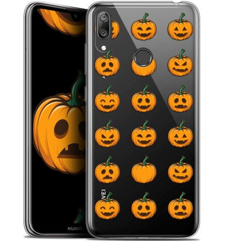 "Coque Gel Huawei Y7 / Prime / Pro 2019 (6.26"") Extra Fine Halloween - Smiley Citrouille"