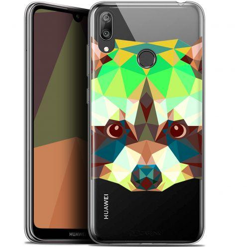 """Coque Gel Huawei Y7 / Prime / Pro 2019 (6.26"""") Extra Fine Polygon Animals - Raton Laveur"""