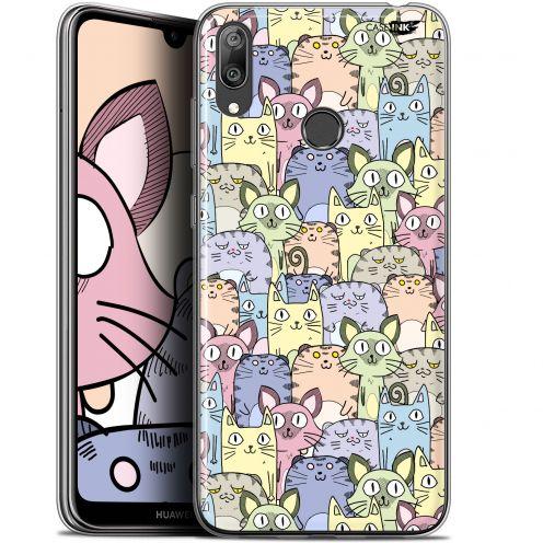 "Coque Gel Huawei Y7 / Prime / Pro 2019 (6.26"") Extra Fine Motif - Foule de Chats"