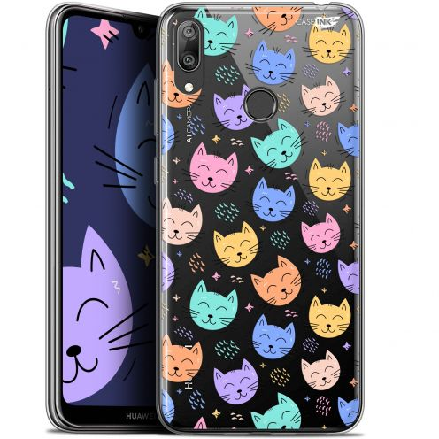 "Coque Gel Huawei Y7 / Prime / Pro 2019 (6.26"") Extra Fine Motif - Chat Dormant"