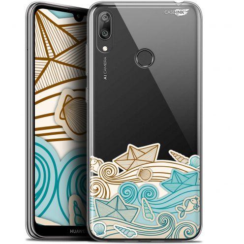 "Coque Gel Huawei Y7 / Prime / Pro 2019 (6.26"") Extra Fine Motif - Bateau de Papier"