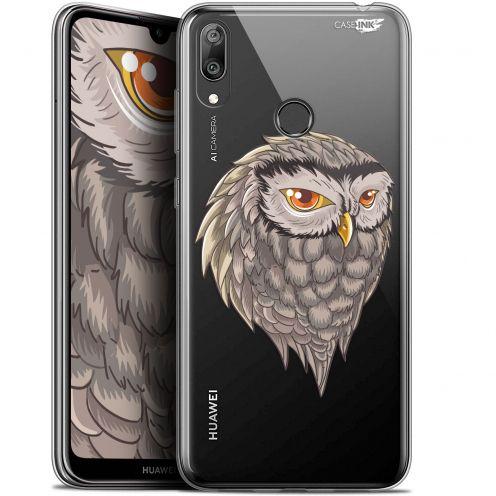 "Coque Gel Huawei Y7 / Prime / Pro 2019 (6.26"") Extra Fine Motif - Hibou Draw"