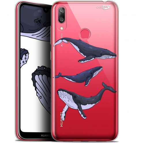 "Coque Gel Huawei Y7 / Prime / Pro 2019 (6.26"") Extra Fine Motif -  Les 3 Baleines"