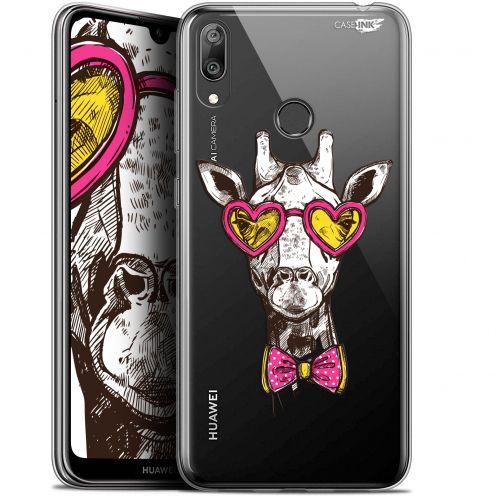 "Coque Gel Huawei Y7 / Prime / Pro 2019 (6.26"") Extra Fine Motif - Hipster Giraffe"