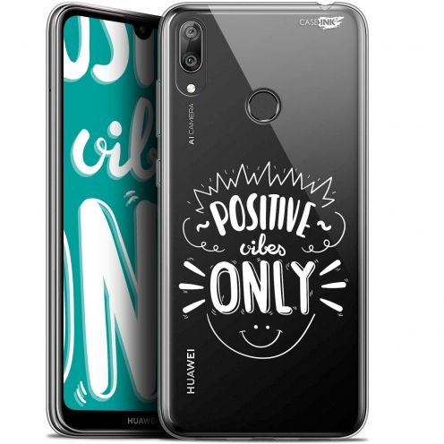 """Coque Gel Huawei Y7 / Prime / Pro 2019 (6.26"""") Extra Fine Motif - Positive Vibes Only"""