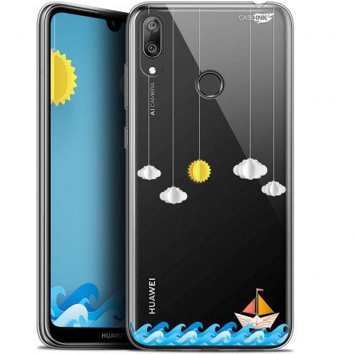 "Coque Gel Huawei Y7 / Prime / Pro 2019 (6.26"") Extra Fine Motif - Petit Bateau en Mer"
