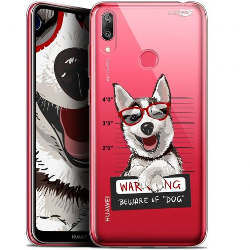 "Coque Gel Huawei Y7 / Prime / Pro 2019 (6.26"") Extra Fine Motif -  Beware The Husky Dog"