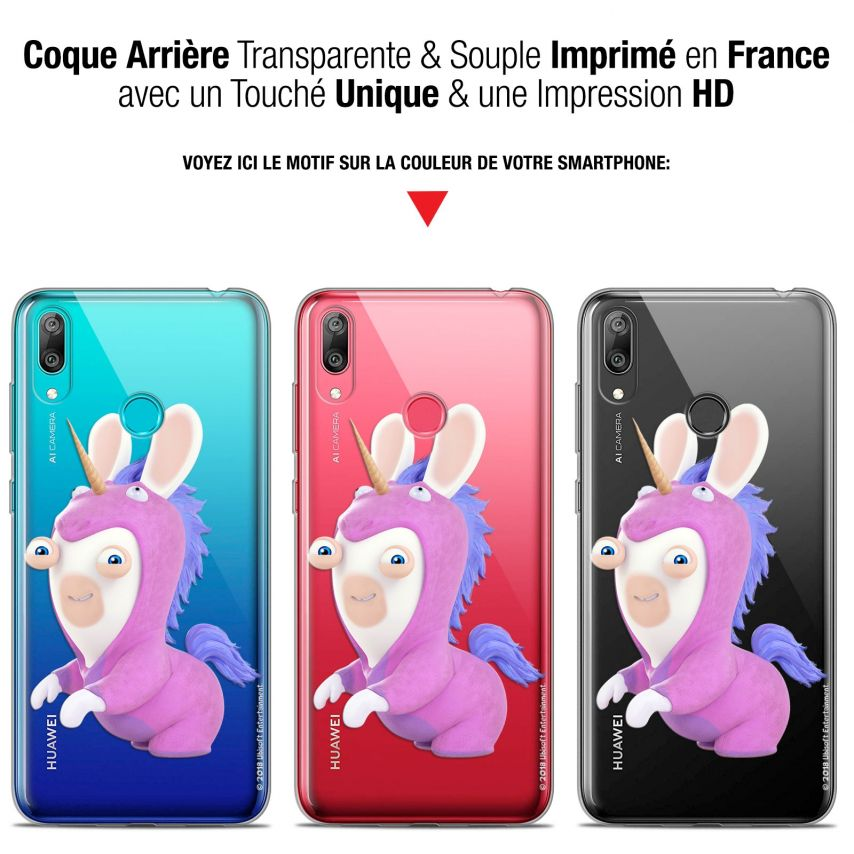 """Coque Gel Huawei Y7 / Prime / Pro 2019 (6.26"""") Extra Fine Lapins Crétins™ - Licorne"""