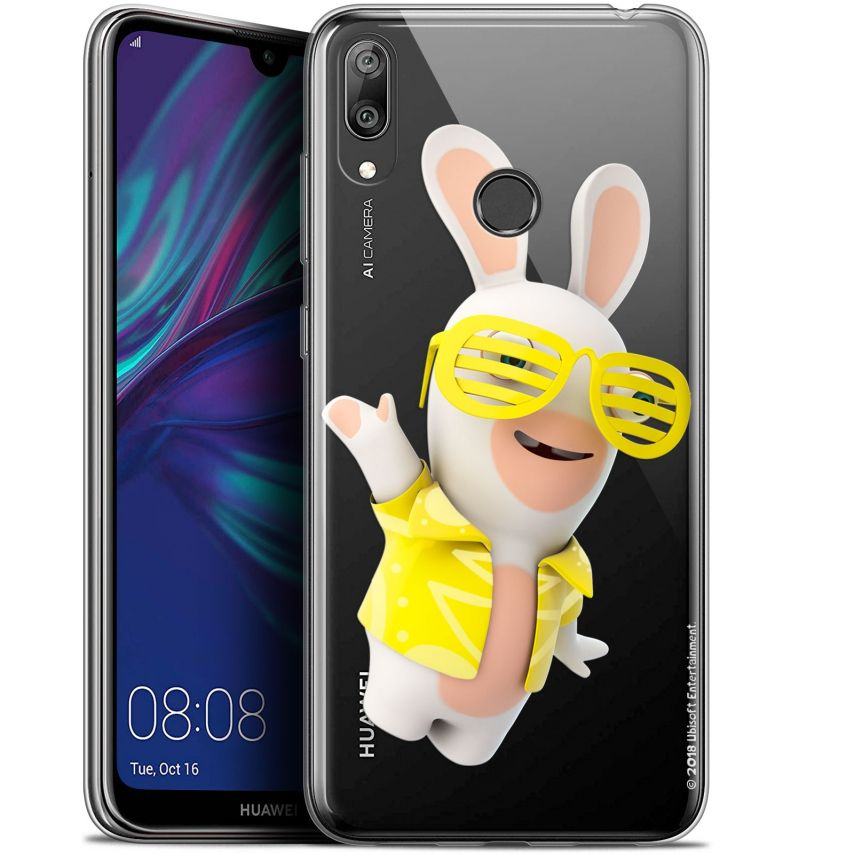 "Coque Gel Huawei Y7 / Prime / Pro 2019 (6.26"") Extra Fine Lapins Crétins™ - Sun Glassss!"