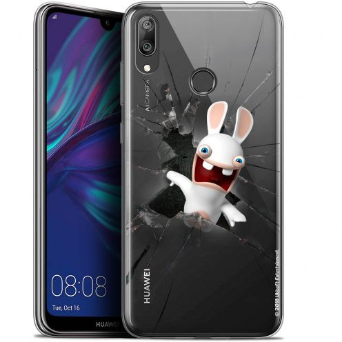 """Coque Gel Huawei Y7 / Prime / Pro 2019 (6.26"""") Extra Fine Lapins Crétins™ - Breaking Glass"""